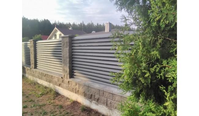 Skardinė žaiuzi tipo  tvora